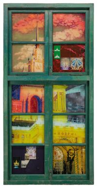 Tetris Window· Exhibition Center by Li Qing contemporary artwork painting, works on paper, sculpture
