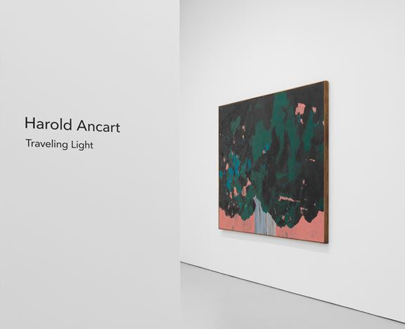Exhibition view: Harold Ancart, Traveling Light, David Zwirner, 525 & 533 West 19th Street, New York (10 September–17 October 2020). Courtesy David Zwirner.