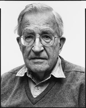 Noam Chomsky, linguist by Oliver Abraham contemporary artwork