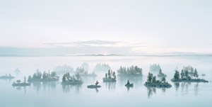 Früher Morgen bei den Korallenmoosinseln (from the series 'Real Landscapes') by Thomas Wrede contemporary artwork