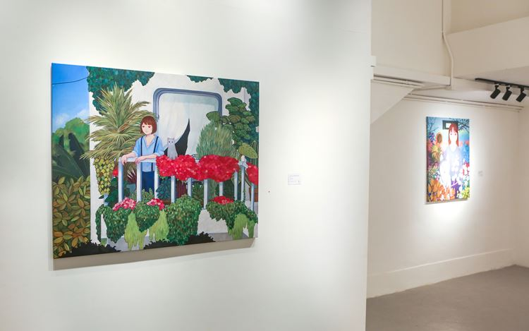 Exhibition view: Tatsuhito Horikoshi,『HAPPY CITY』, A2Z Art Gallery, Hong Kong (8 February–8 March 2020). CourtesyA2Z Art Gallery.