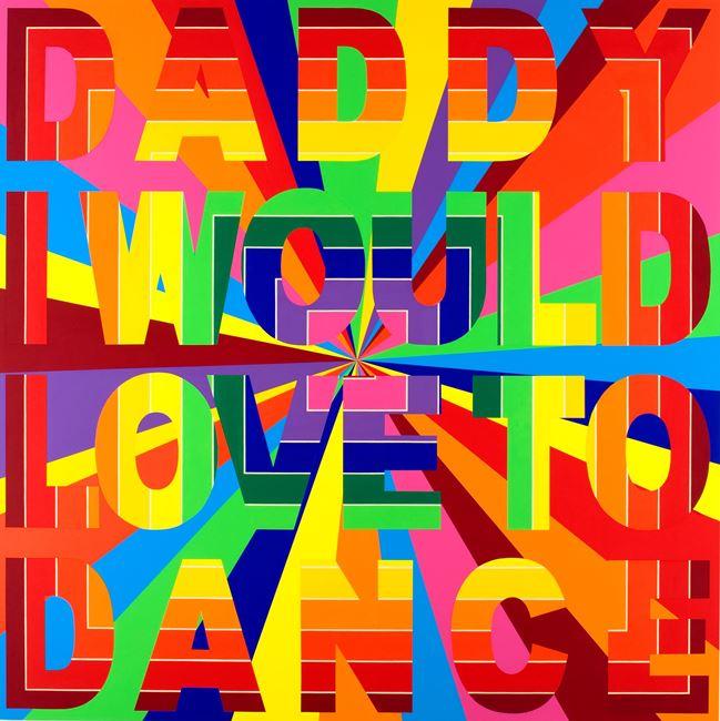 Daddy (Rays/Stella) by Deborah Kass contemporary artwork