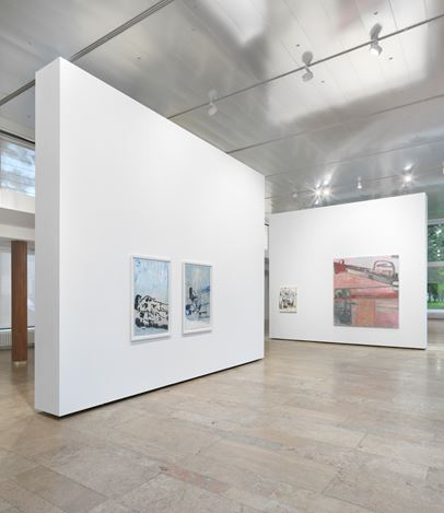 Exhibition view:Amy Sillman, ein Paar, Capitain Petzel, Berlin (15 September–11 November 2017). © the artist. Courtesy Capitain Petzel, Berlin. Photo: Jens Ziehe.