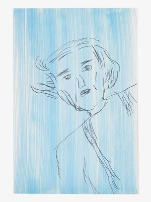 Rose Wylie by Rose Wylie contemporary artwork painting, works on paper