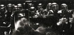 Study of Riot Cops w/ Tear Gas Guns + Shields by Robert Longo contemporary artwork 2