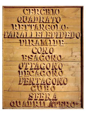 La geometria, quale paesaggio pittoresco! by Mario Ceroli contemporary artwork