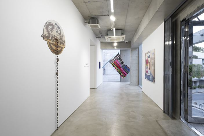 Installation view, artwork, left to right: Sayre Gomez; Gabriella Sanchez; Alfonso Gonzalez Jr. Courtesy of MAKI.
