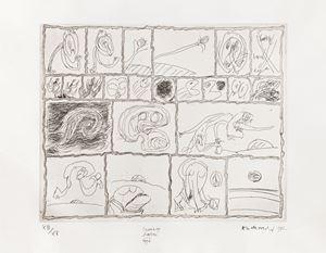 Cuivre barré déjà by Pierre Alechinsky contemporary artwork print