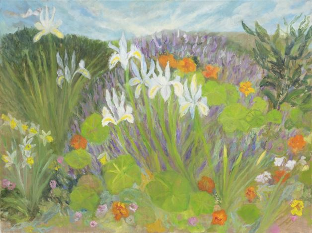 Star Gossage, Spring Gives (2020). Oil on canvas, 75 x 100 cm. Courtesy PAGE Galleries, Wellington.