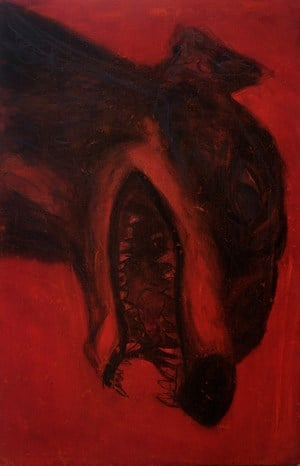 Dog in Red by Bree Jonson contemporary artwork