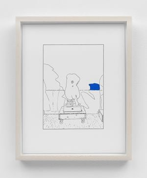 Hand on Her Back (traced and painted), Sixth by Louise Lawler contemporary artwork