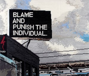 Blame and Punish the Individual by Michelle Hamer  contemporary artwork