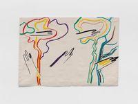 Brume Matinale by Etel Adnan contemporary artwork textile