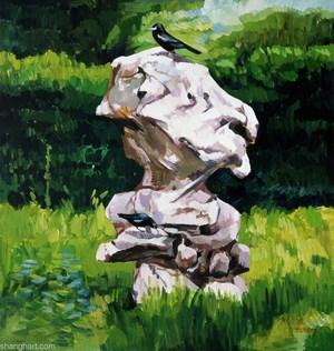 Crow Specimen by Liu Weijian contemporary artwork painting