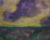 Weite Landschaft by Herbert Beck contemporary artwork works on paper