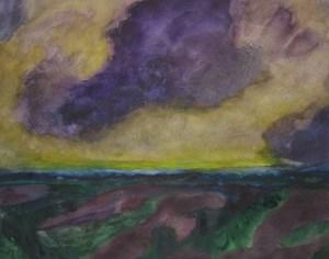 Weite Landschaft by Herbert Beck contemporary artwork