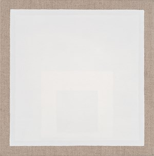 Square within Two White Squares by Danica Firulovic contemporary artwork