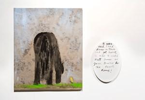 Black stallion and canary by Jenny Watson contemporary artwork