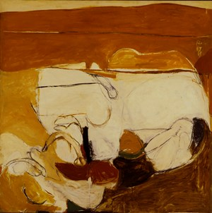 Untitled warm painting by Brett Whiteley contemporary artwork