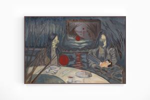 Women and Child at Dinner Table by Henry Shum contemporary artwork