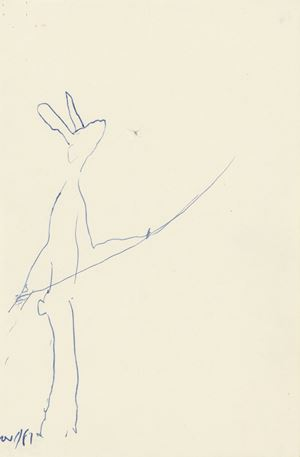 Hare : With Line by Barry Flanagan contemporary artwork