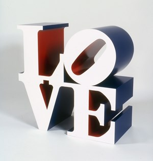 The American LOVE (White Blue Red) by Robert Indiana contemporary artwork