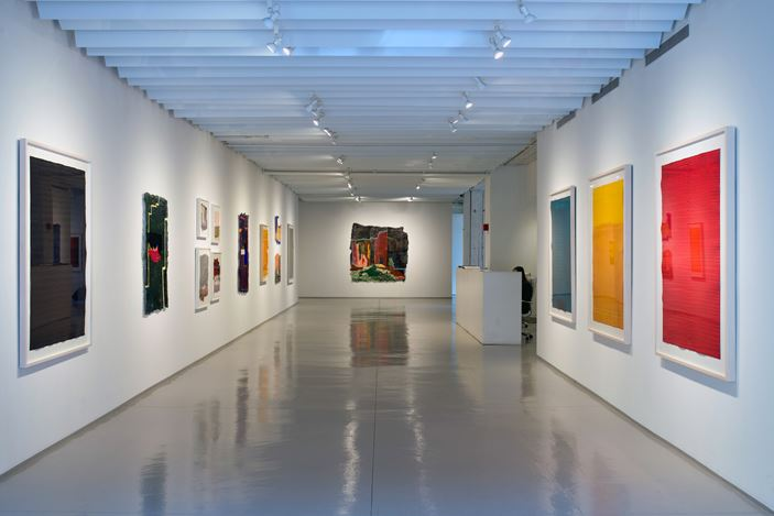 Exhibition view: Group Exhibition,Surface Rhythm, Sundaram Tagore Gallery, Chelsea, New York (27 February–28 March 2020).Courtesy Sundaram Tagore Gallery.