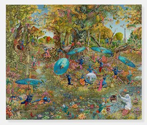 From Narcissus to Icarus (After Déjeuner sur l'herbe) by Raqib Shaw contemporary artwork