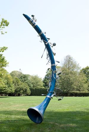 Leaning Clarinet by Coosje Van Bruggen and Claes Oldenburg contemporary artwork