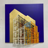 Ambiguous wall- Golden cage 03 by Byung Joo Kim contemporary artwork sculpture