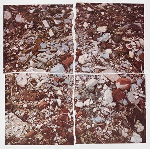 Torn Photograph from the Second Stop (Rubble): Second Mountain of Six Stops on a Section by Robert Smithson contemporary artwork