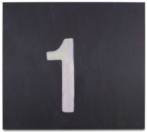Numbers (One) by Luc Tuymans contemporary artwork