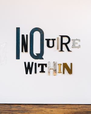 INQUIRE WITHIN by Jack Pierson contemporary artwork