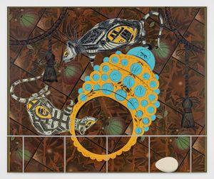 Diorama 3 by Lari Pittman contemporary artwork