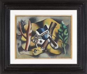 Composition á la feuille by Fernand Léger contemporary artwork
