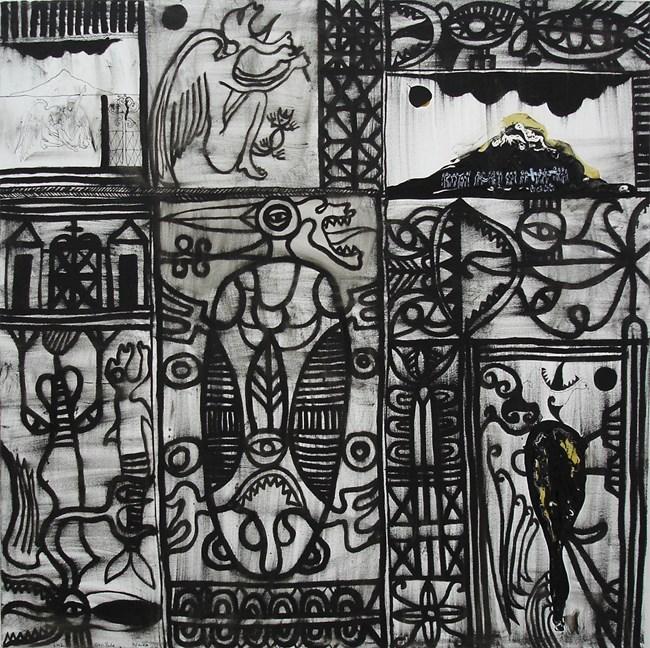 Niniko by John Pule contemporary artwork