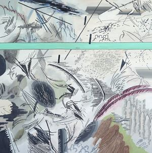 날개 짓에 부딪치는 검은 옷자락 by Woo Tae Kyung contemporary artwork