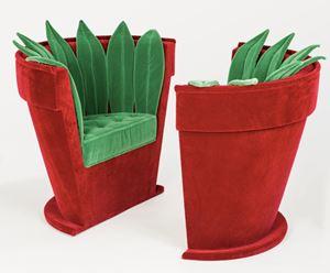 """Paire de Fauteuils """"Pot de fleurs"""" by Hubert Le Gall contemporary artwork"""
