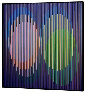 Chromointerférence spatiale A, Paris by Carlos Cruz-Diez contemporary artwork sculpture