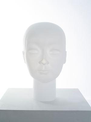 Imbalanced Head #8 Jianwei (Glass) by Prune Nourry contemporary artwork sculpture