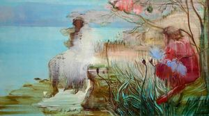 Pastoral (after Bunny) by Adrienne Gaha contemporary artwork