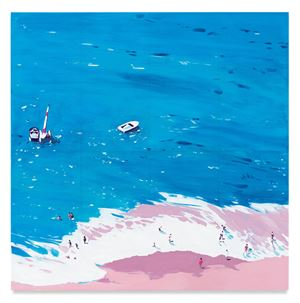 Aerial Beach by Isca Greenfield-Sanders contemporary artwork