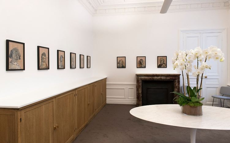 Exhibition view: Nalini Malani, People Come and Go, Galerie Lelong & Co., Paris (12 October-25 November 2017). Courtesy Galerie Lelong & Co., Paris.