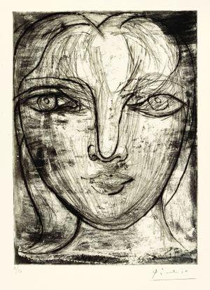 Portrait de Marie-Thérèse de face by Pablo Picasso contemporary artwork