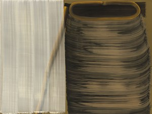 5 Brushstrokes over 1 Brushstroke (left) and 8 Brushstrokes (right) #II by Hyun-Sook Song contemporary artwork