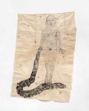 Woman Standing on Snake by Kiki Smith contemporary artwork