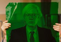Andy Warhol in his factory, New York, 1981 by Thomas Hoepker contemporary artwork photography