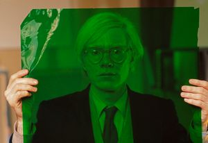 Andy Warhol in his factory, New York, 1981 by Thomas Hoepker contemporary artwork