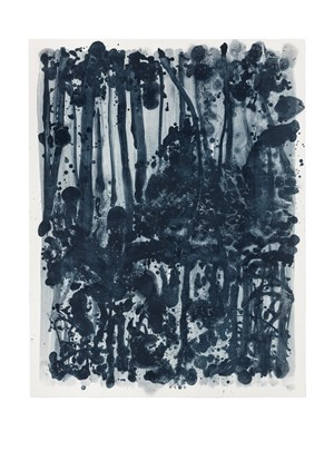 Indigo forest 10 by Shinro Ohtake contemporary artwork