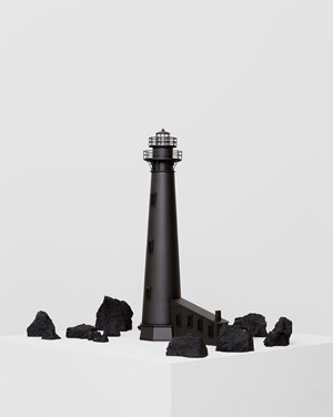 Black Lighthouse II / Faro negro II by Jorge Méndez Blake contemporary artwork